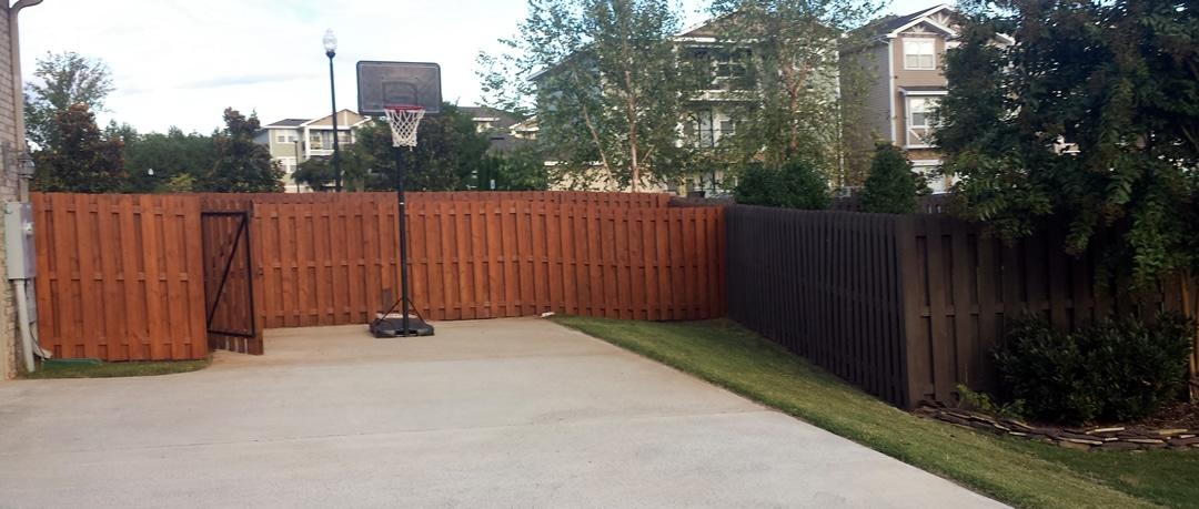 Huntsville Fence Staining